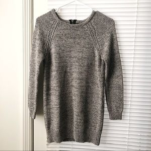 FOREVER 21 GREY KNIT SWEATER 3/4 SLEEVE